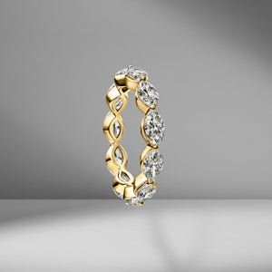 East-West Set Marquise Eternity Band .25