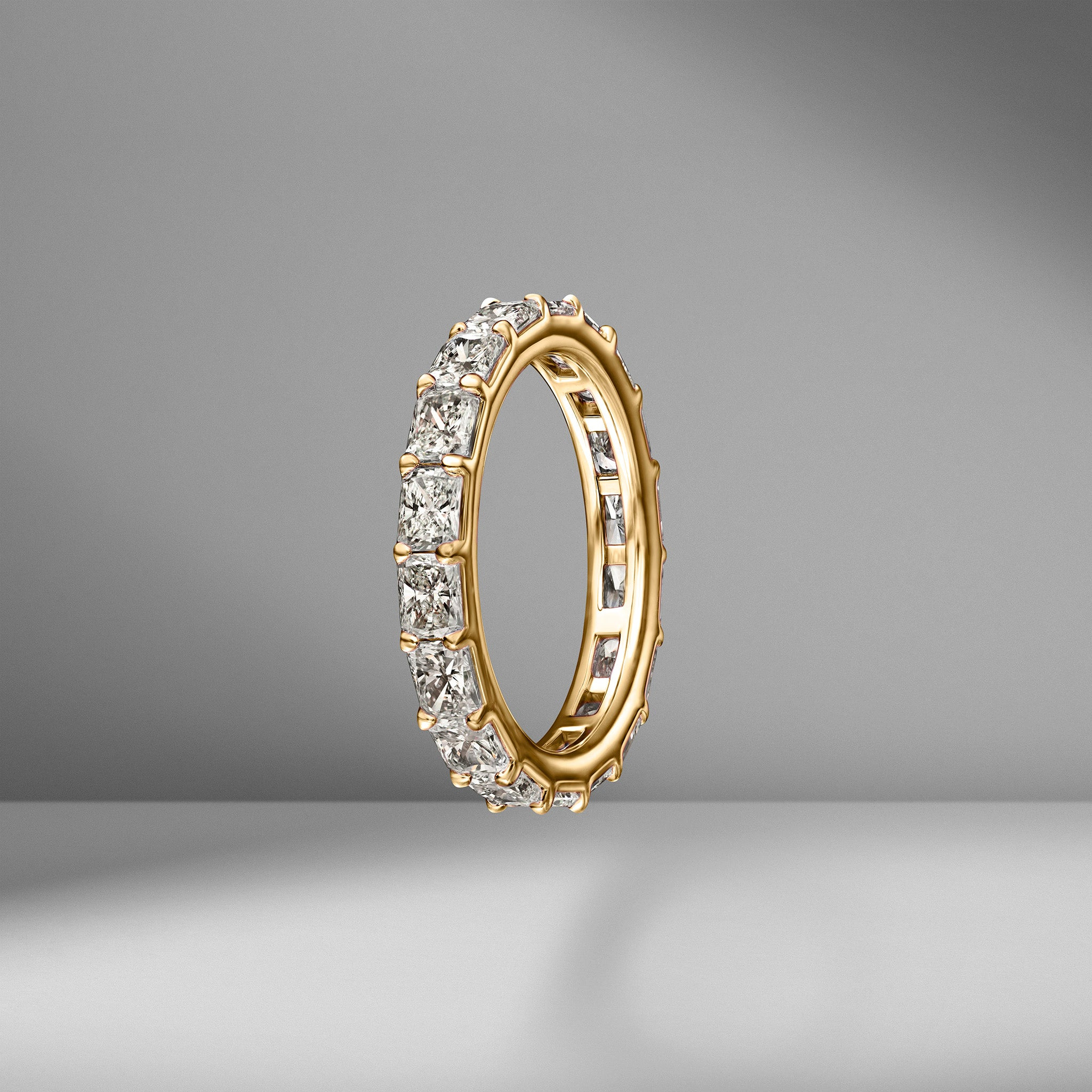 East-West Set Radiant Cut Eternity Band .15