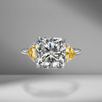 Cushion Cut with Fancy Intense Yellow Shields