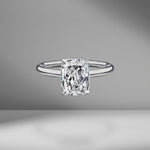 Radiant Cut Solitaire Engagement Ring