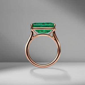 Emerald Cut Emerald East-West Ring