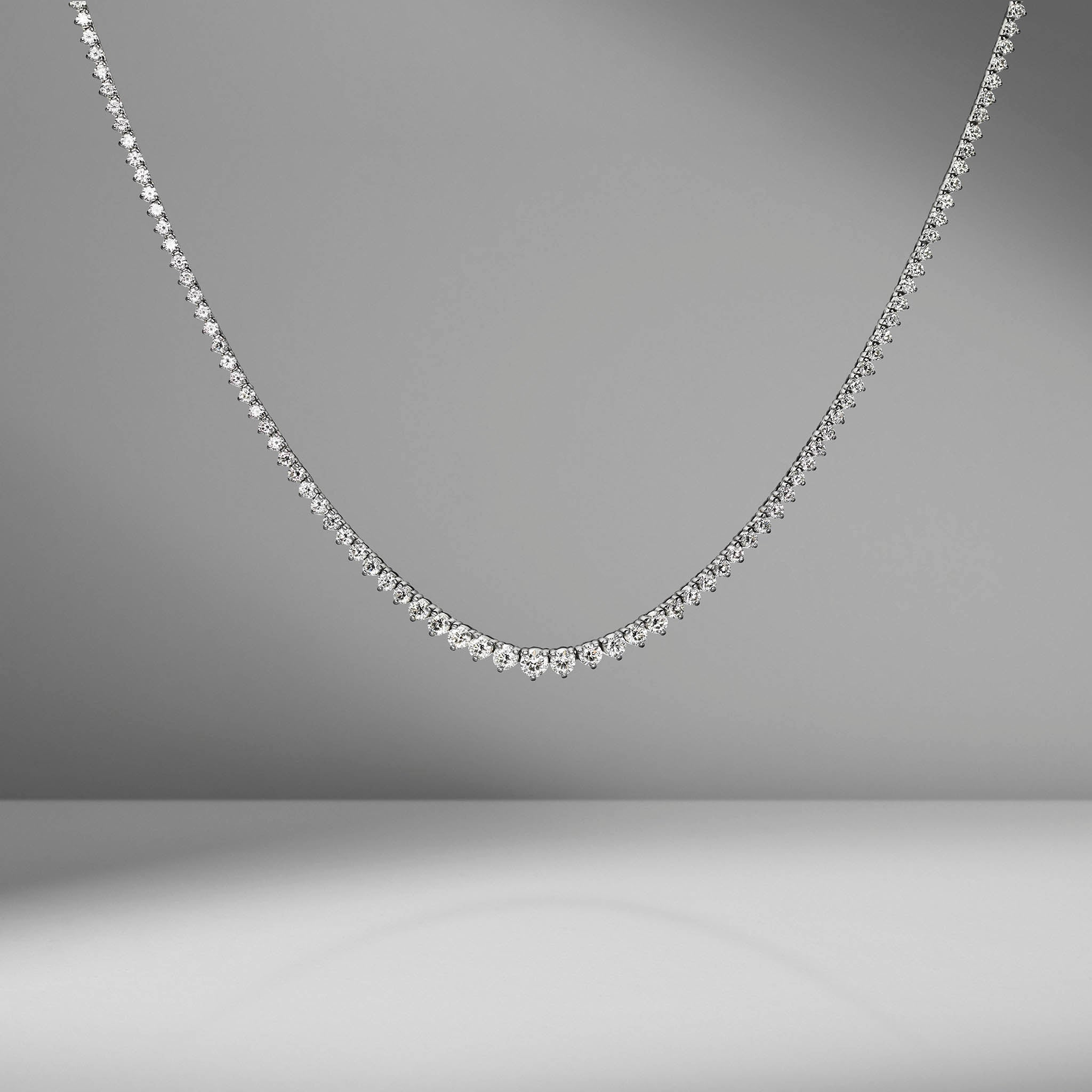 Small Graduated Diamond Necklace