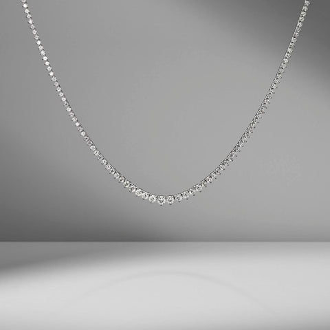 Small Graduating Diamond Necklace by Material Good