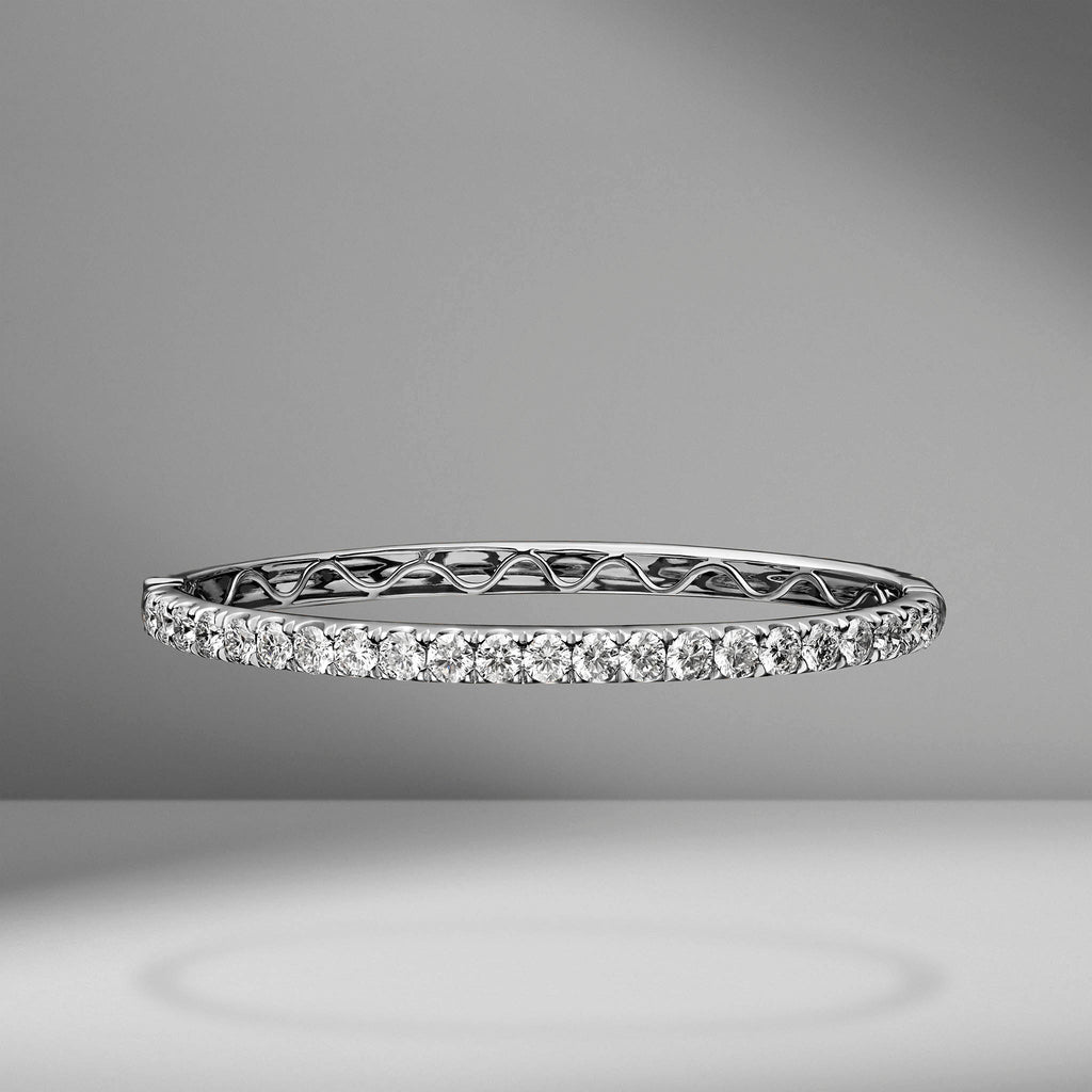 Halfway Diamond Bangle