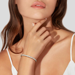 White Gold Diamond Bangle by Material Good - Material Good