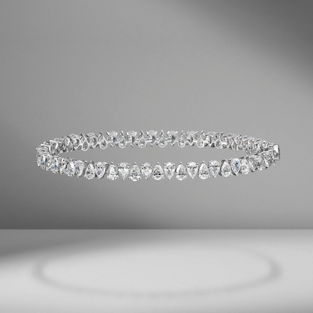 Pear Shape Tennis Bracelet