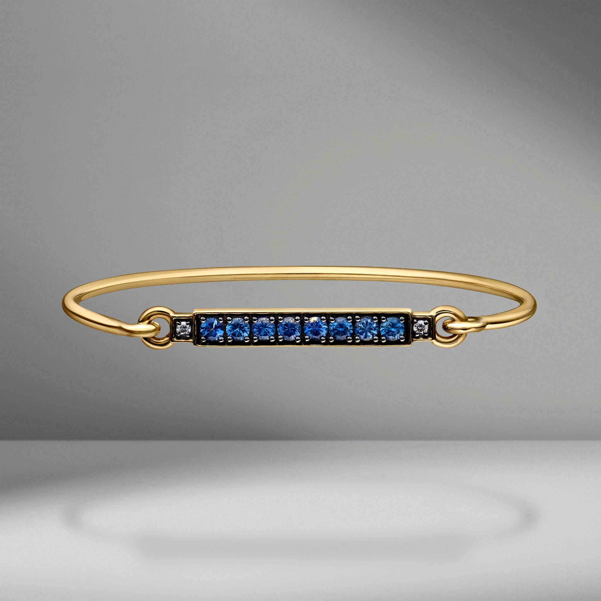 Prive Blue Sapphire & Diamond Bar Bangle