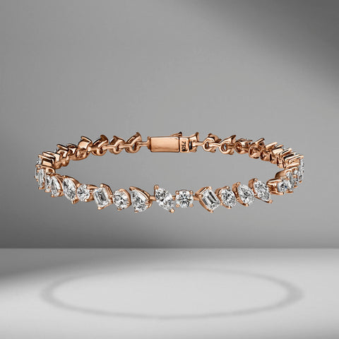 Large Multi-Shape Diamond Bracelet
