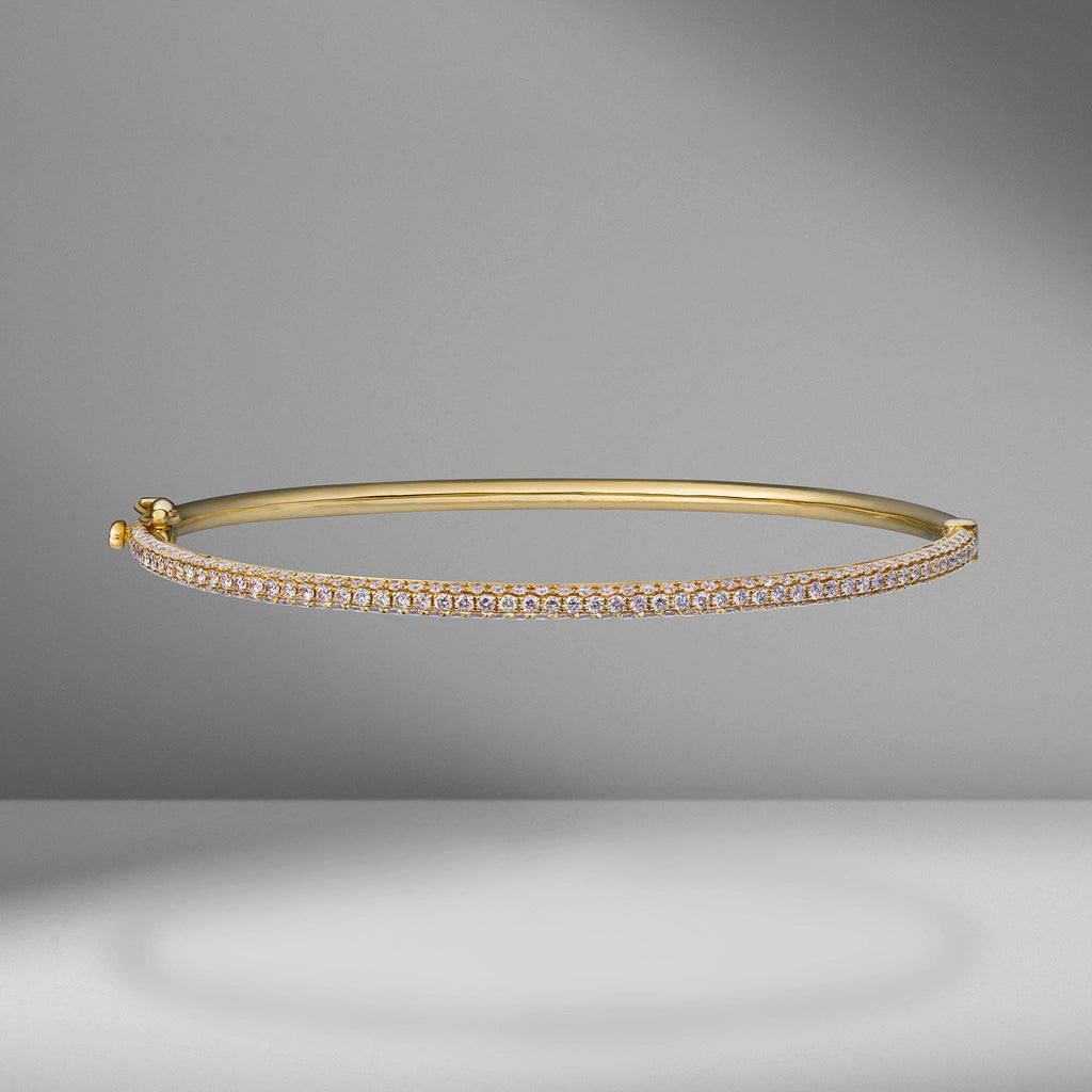 Triple Row Pavé Bangle