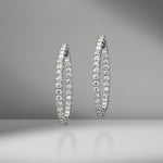 In & Out Diamond Hoops