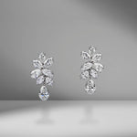 Pear & Marquise Diamond Drop Earrings