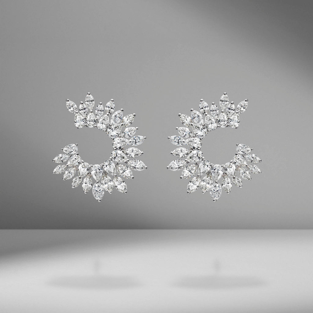 Marquise & Pear Shape Diamond Earrings
