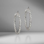 Large In & Out Diamond Hoops