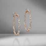 Rose Gold Multi-Shape Diamond Hoops