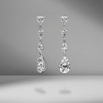 Multi-Shape Diamond Drop Earrings