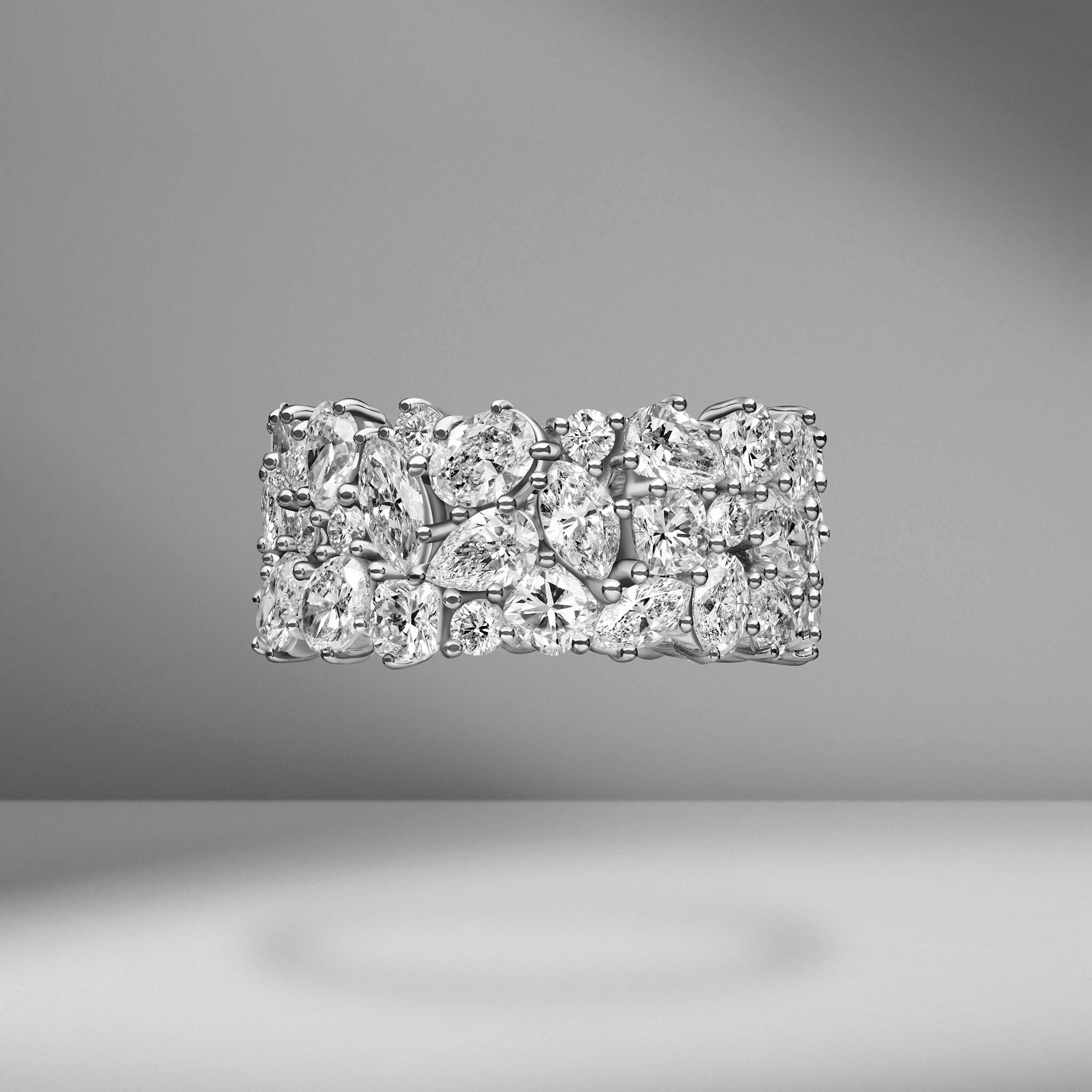 Multi-Shape Cluster Eternity Band
