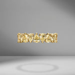 Fancy Yellow Pear Shape Eternity Band