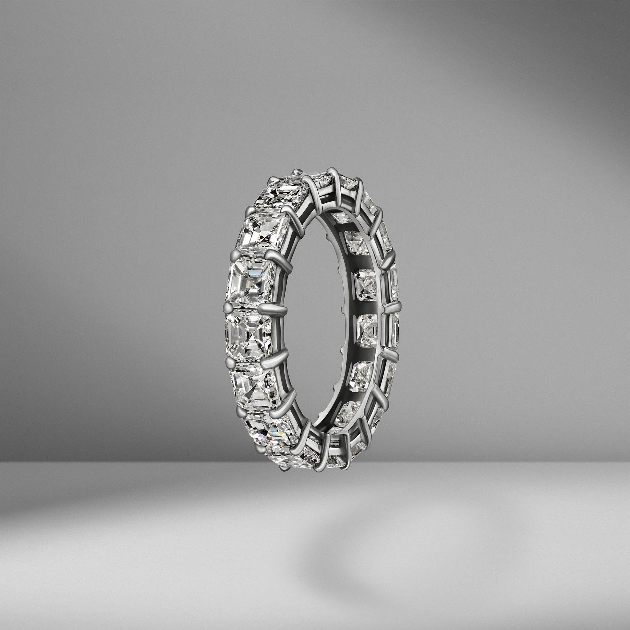Asscher Cut Eternity Band .30
