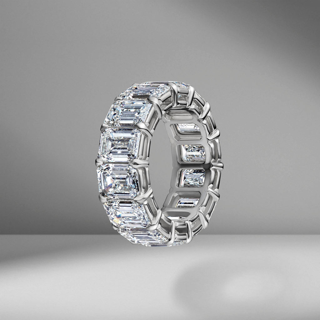 Emerald Cut Eternity Band .66