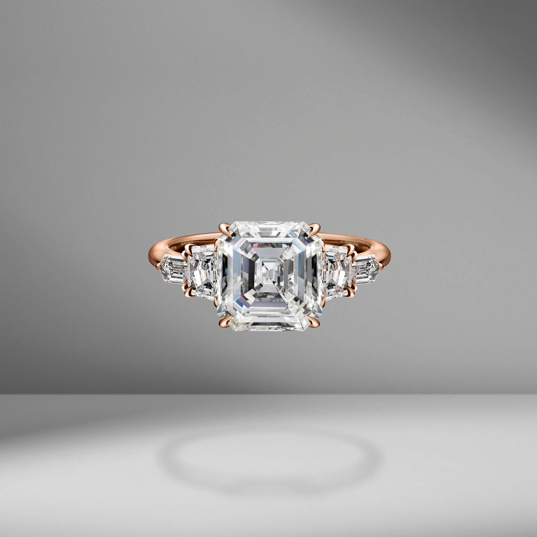Asscher Cut Engagement Ring with Cadillacs & Bullets