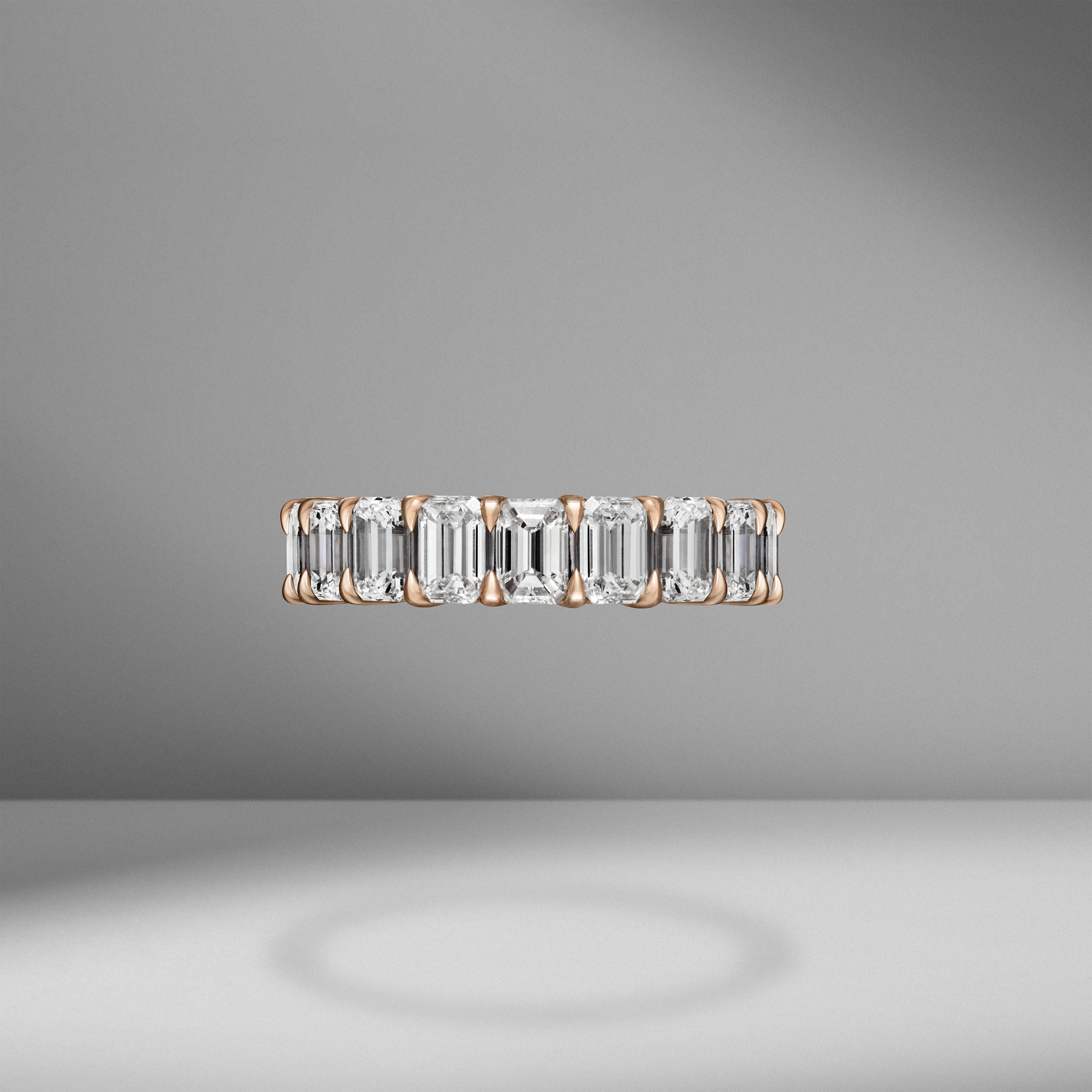 Emerald Cut Eternity Band .30