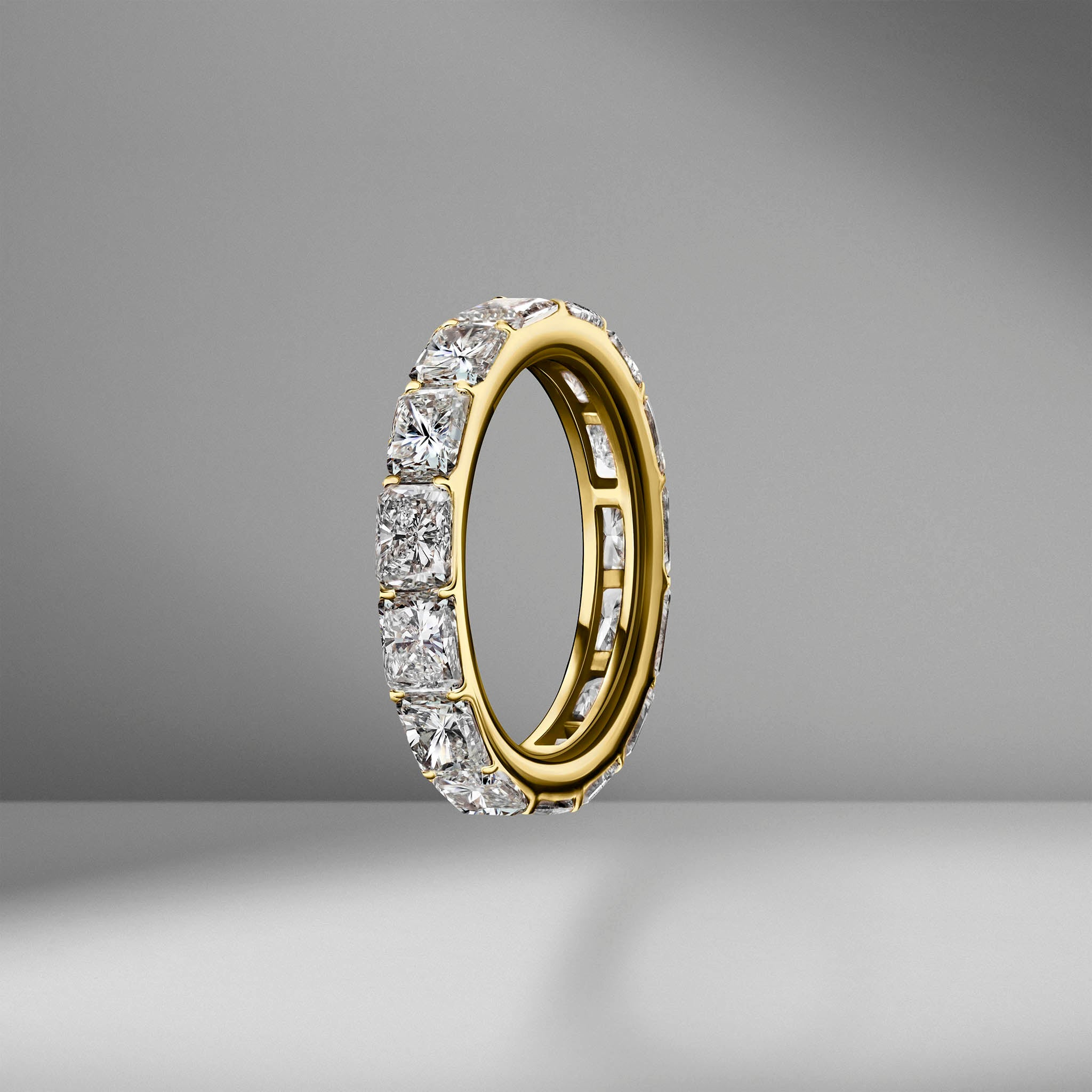 East-West Set Radiant Cut Eternity Band .30