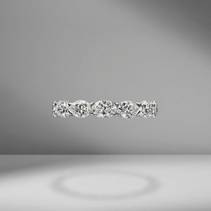 East-West Set Oval Cut Eternity Band .30