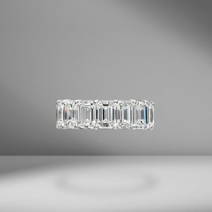 Emerald Cut Eternity Band .80