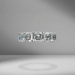 Asscher Cut Eternity Band 1.50