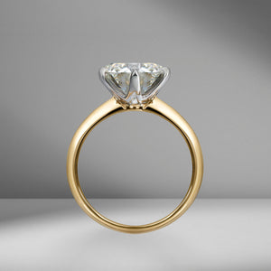Round Brilliant Cut Solitaire Engagement Ring with Classic Tiffany Setting