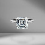 Asscher Cut Solitaire Engagement Ring