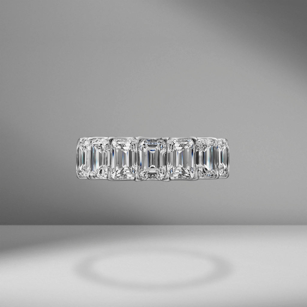 Emerald Cut Eternity Band .70