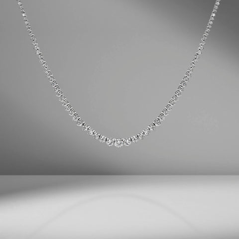 Large Graduated Diamond Necklace by Material Good
