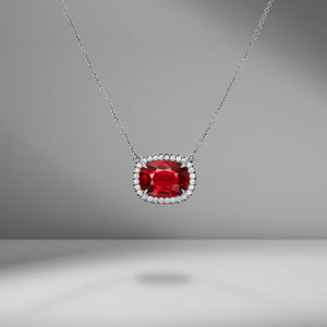 Ruby & Diamond Pavé Pendant