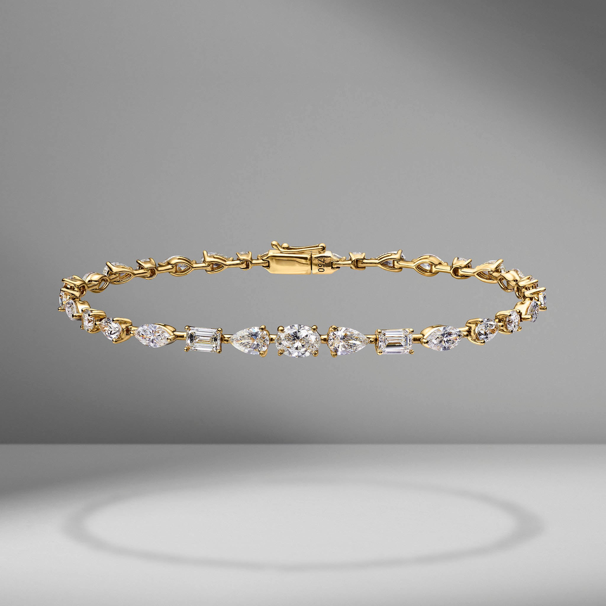 Medium Multi-Shape Diamond Bracelet