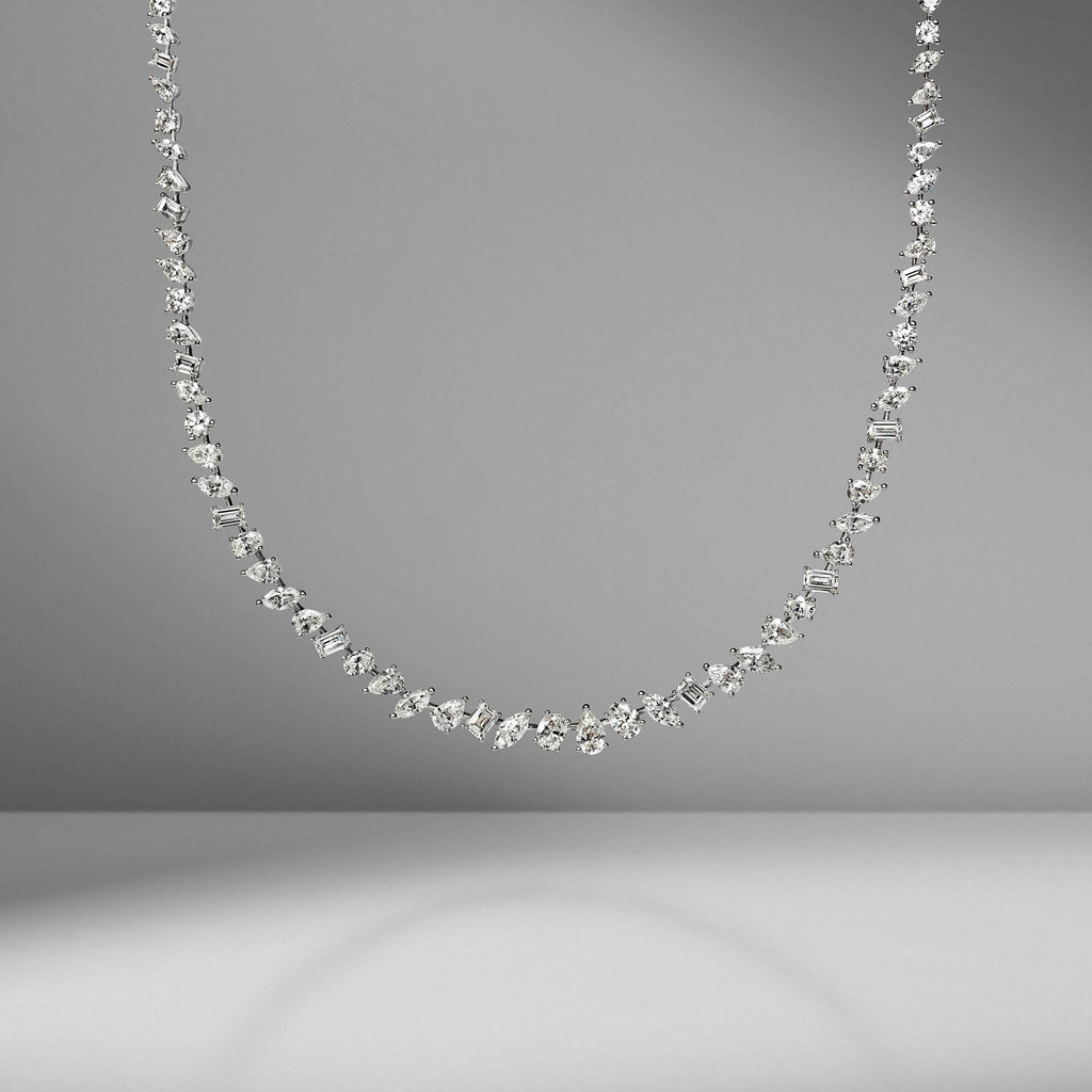 Multi-Shape Diamond Necklace