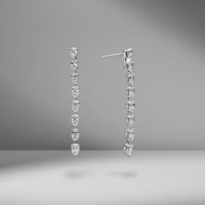 Diamond Pear Drop Earrings