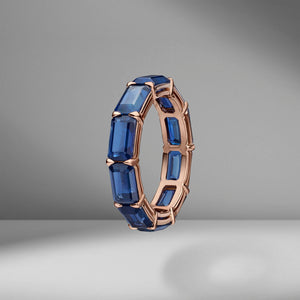 East-West Set Sapphire Eternity Band