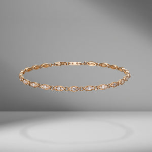 Triple Bezel Diamond Bracelet