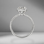 Round Brilliant Cut Engagement Ring with Pavè Band