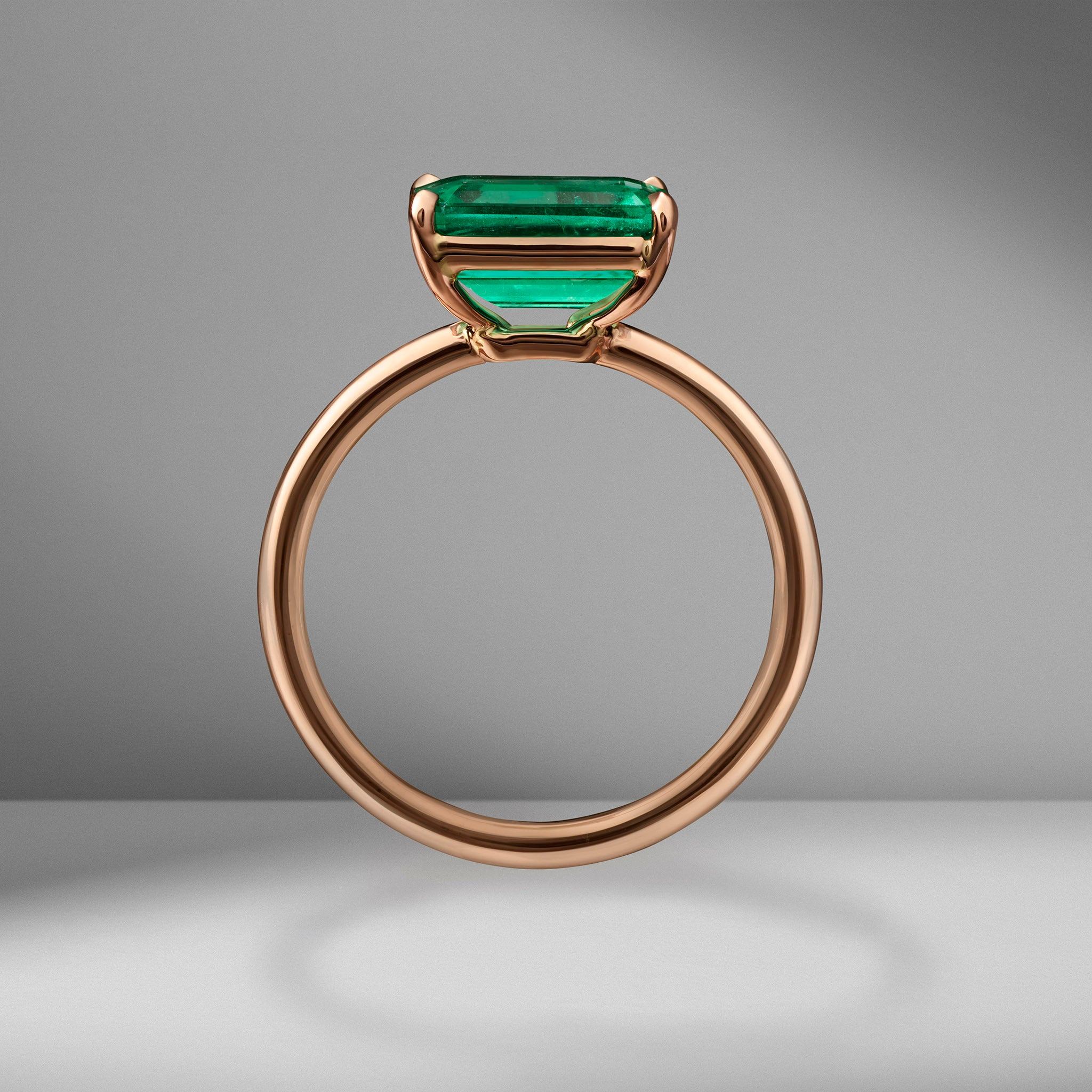 Emerald East-West Ring