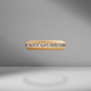 Beveled Edge Carre Diamond Ring