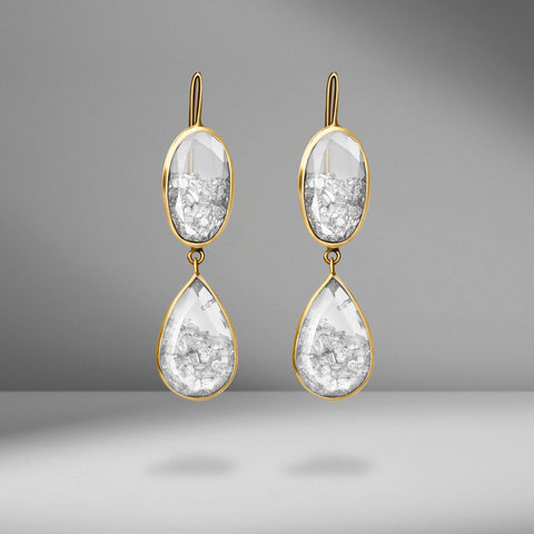 Diamond Drop Earrings by Moritz Glik