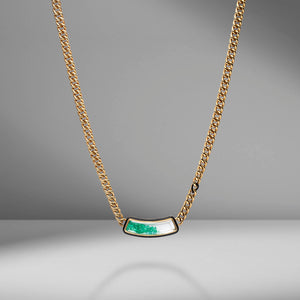 Collar Emerald Shaker Curb Chain Necklace