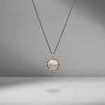 Palladium Gray & Diamond Necklace