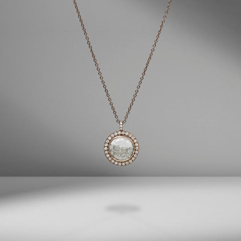 Palladium Gray and Diamond Necklace by Moritz Glik