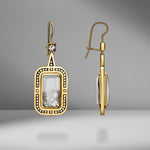 Yellow Gold Diamond Deco Earrings