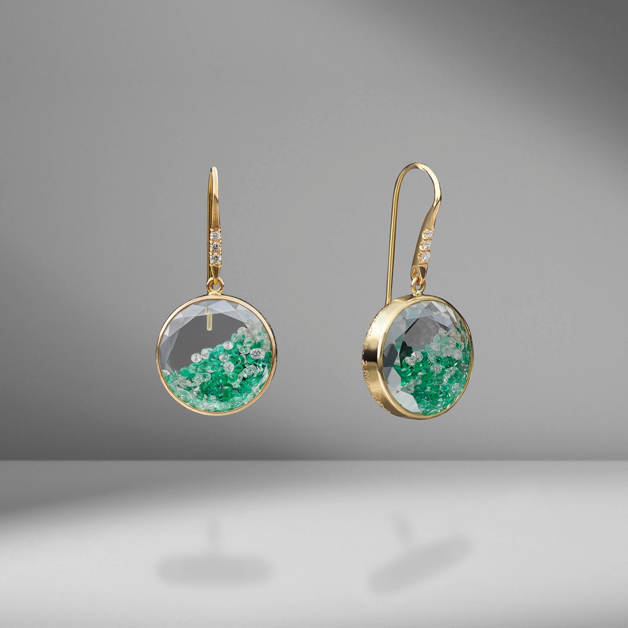 Emerald & Diamond Shaker Earrings