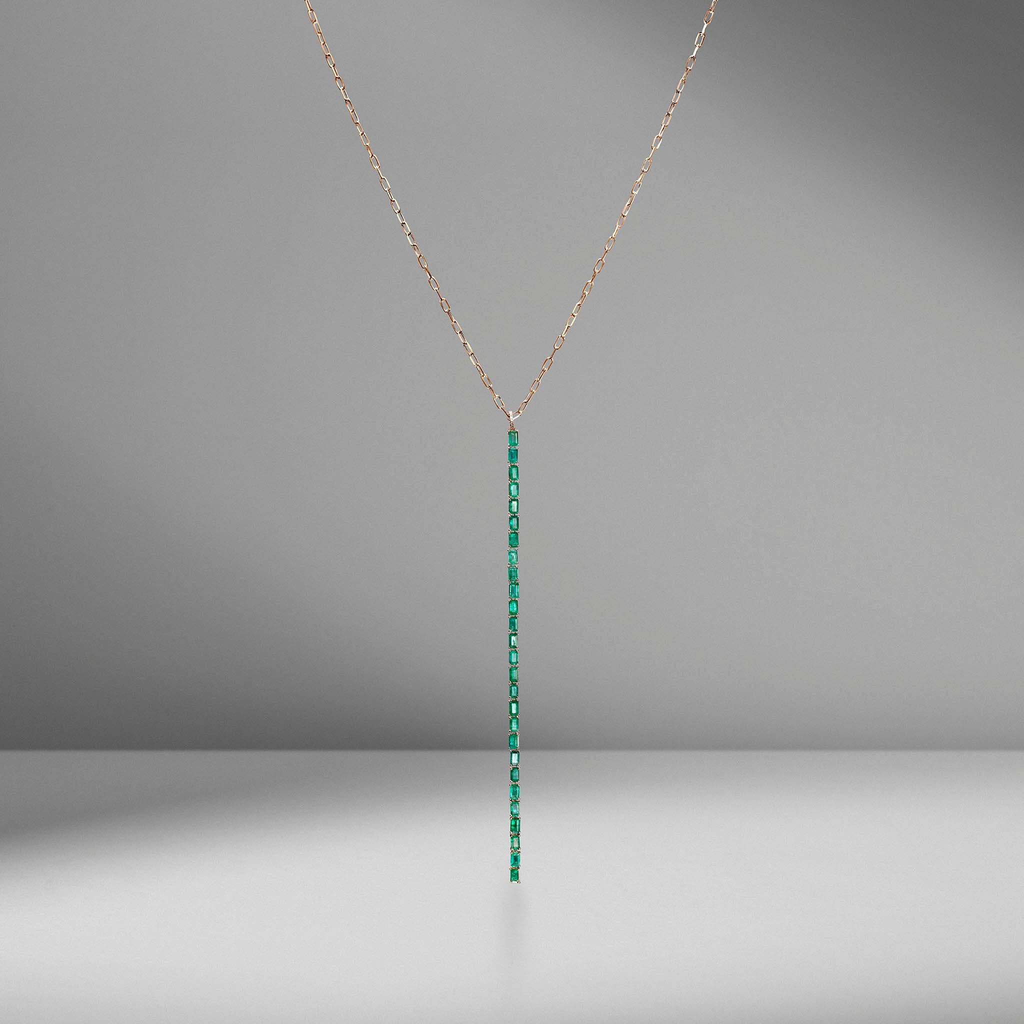 Emerald Stick Drop Necklace