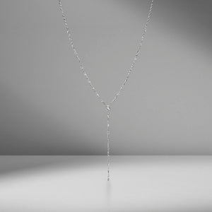 Mixed Diamond Drop Necklace